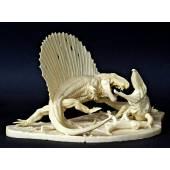 Dimetrodon vs. Ophiacodon, Diorama Bausatz