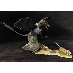Microraptor jagt Eomaia, Diorama Elster
