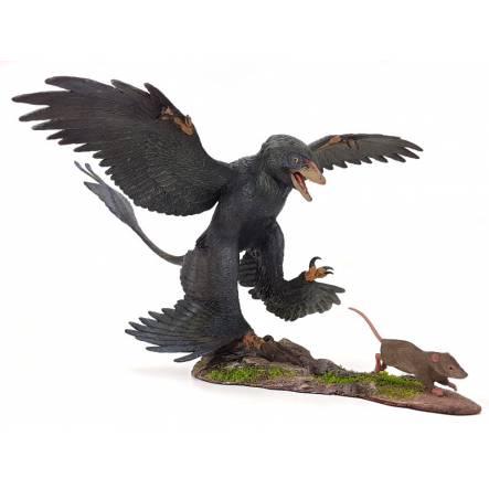 Microraptor hunting Eomaia, Diorama Raven