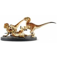 Crash McCreery's Baby Raptors, Jurassic Park Dinosaurier Diorama von Chronicle Collectibles