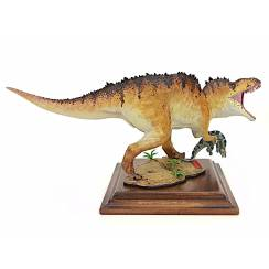 Acrocanthosaurus with Prey, Dinosaur Model by Alexander Belov