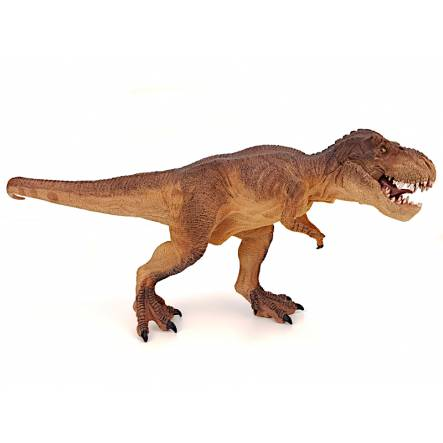 T.Rex walking, brown, Dinosaur Toy Figure by Papo