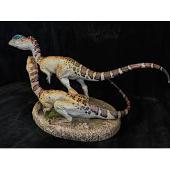 Dilophosaurus Pair, Dinosaur Model by Sideshow Collectibles - Repaint