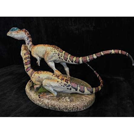 Dilophosaurus Paar, Dinosaurier Modell von Sideshow Collectibles - Repaint