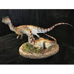 Dilophosaurus Paar, Dinosaurier Modell von Sideshow Collectibles - Repaint