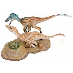Troodon Paar, Dinosaurier Diorama von Shane Foulkes