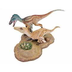 Troodon Pair, Dinosaur Diorama by Shane Foulkes