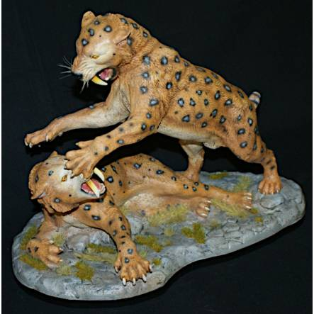 Smilodon Duell, Model by Joe Laudati