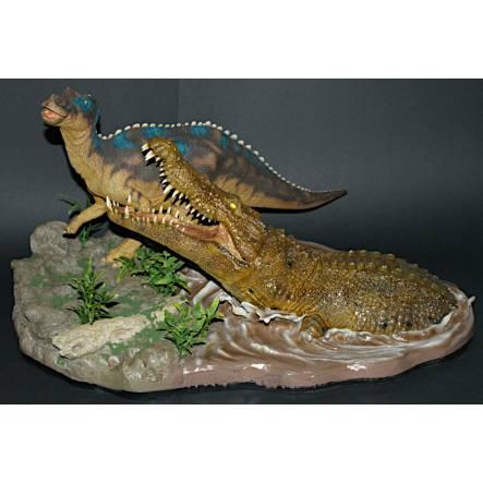 Deinosuchus vs. Kritosaurus, Dinosaurier Modell von Shane Foulkes