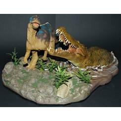 Deinosuchus vs. Kritosaurus, Dinosaur Model by Shane Foulkes