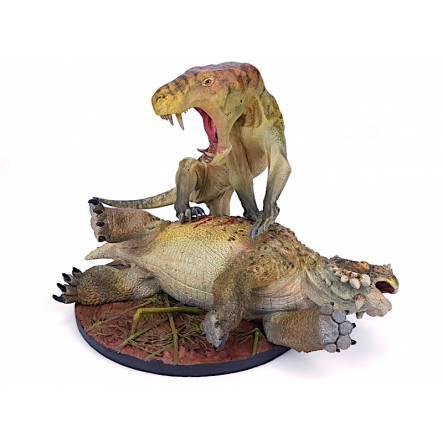 Inostrancevia vs. Scutosaurus, Modell von Vitali Klatt