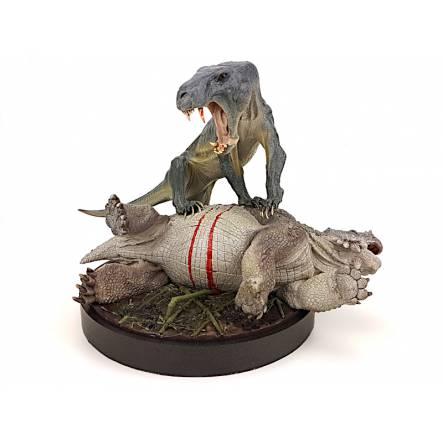 Inostrancevia (dark eyes) vs. Scutosaurus, Model by Vitali Klatt