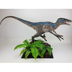 Velociraptor Blue, Dinosaur Model by Galileo Hernandez