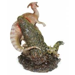 Deinosuchus vs. Parasaurolophus, Dinosaurier Modell Sideshow