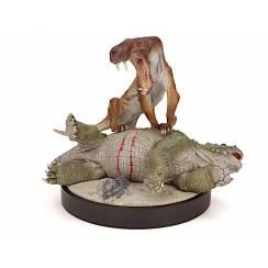 Inostrancevia vs. Scutosaurus, (Wüste) Modell von Vitali Klatt