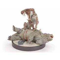 Inostrancevia gefleckt vs. Scutosaurus, (Wüste) Modell von Vitali Klatt