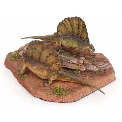 Edaphosaurus-Paar, Modell von Galileo Hernandez
