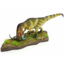 Torvosaurus mit Beute - grün, Dinosaurier Modell von Francesco Salerno