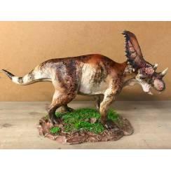 Chasmosaurus rot-braun, Dinosaurier Modell von Sean Cooper