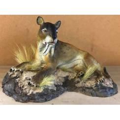 Thylacosmilus liegend, Modell von Sean Cooper