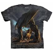 T-Rex vs. Triceratops, Dino Battle T-Shirt by The Mountain