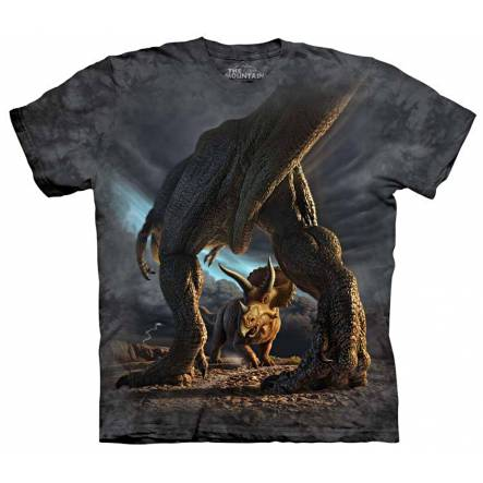 T-Rex vs. Triceratops, Dinosaurier T-Shirt The Mountain
