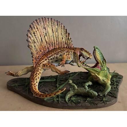 Dimetrodon vs. Ophiacodon, Diorama by Vitali Klatt