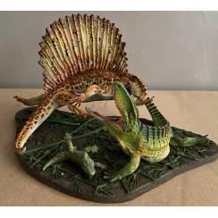 Dimetrodon vs. Ophiacodon, Diorama von Vitali Klatt