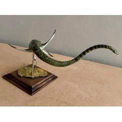 Elasmosaurus dunkel-grün, Meeressaurier Modell von Alexander Belov
