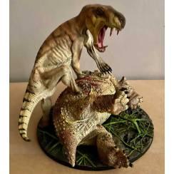 Inostrancevia brown vs. Scutosaurus, Model by Vitali Klatt