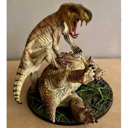 Inostrancevia braun vs. Scutosaurus, Modell von Vitali Klatt