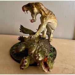 Inostrancevia Tiger-Look vs. Scutosaurus, Modell von Vitali Klatt