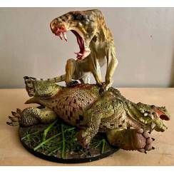 Inostrancevia Tiger-Look vs. Scutosaurus, Model by Vitali Klatt