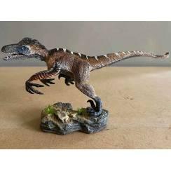 Utahraptor 'Wind Hunter', Dinosaurier Modell von Rebor - Repaint - Maul auf