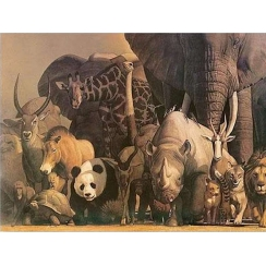 Wilde Tiere Panorama-Poster