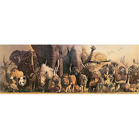 Wild Animals Panorama-Poster by Safari Ltd.
