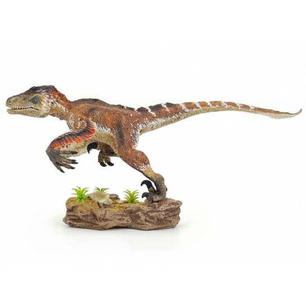 Utahraptor 'Wind Hunter', Dinosaur Model by Rebor - Repaint - Green