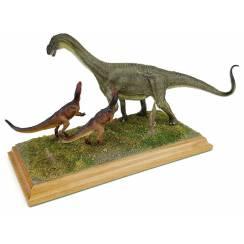2 Allosaurus hunting Jobaria, Dinosaur Diorama