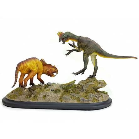 Oviraptor vs. Protoceratops, Dinosaurier-Modell