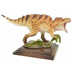Acrocanthosaurus mit Beute, braun gestreift, Dinosaurier Modell von Alexander Belov