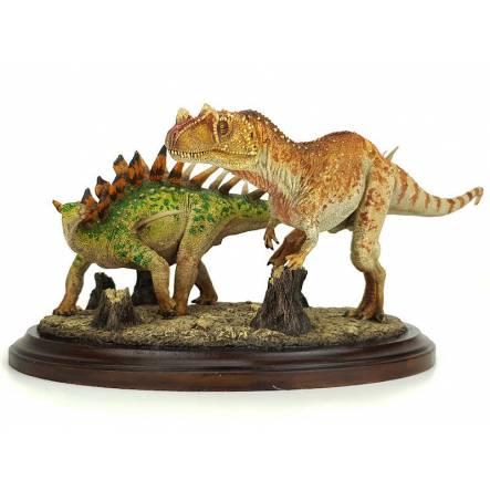 Ceratosaurus vs. Kentrosaurus, Dinosaurier Diorama von Shane Foulkes