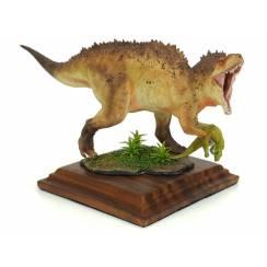 Acrocanthosaurus mit Beute, hellbraun, Dinosaurier Modell von Alexander Belov