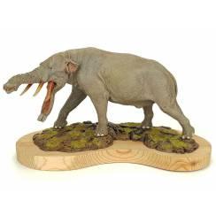 Platybelodon - Rüssel ausgestreckt, Modell von Sean Cooper