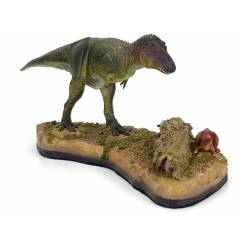 Tarbosaurus & Saurolophus Jungtier, Diorama von Shane Foulkes