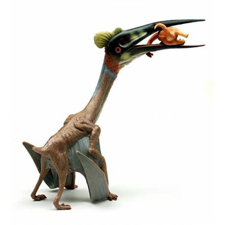 Quetzalcoatlus with Prey, Pterosaur Toy Figure by CollectA