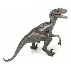 Velociraptor grau, Dinosaurier Spielzeug von Papo