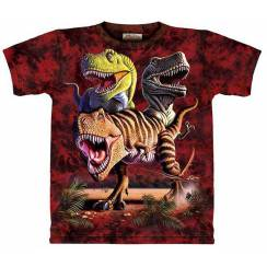 T-Rex-Collage 1, Dinosaurier T-Shirt The Mountain
