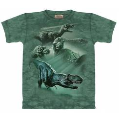 T-Rex-Collage 2, Dinosaurier T-Shirt The Mountain