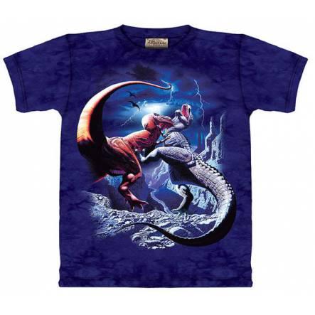 T-Rex-Kampf, Dinosaurier T-Shirt The Mountain