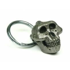 Paranthropus Skull, Prehistoric Man Pewter Pendant